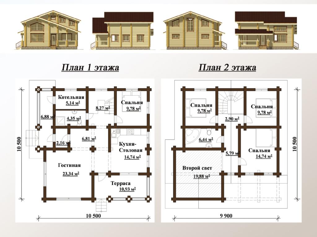 дома из клееного бруса с баней до 100 кв м